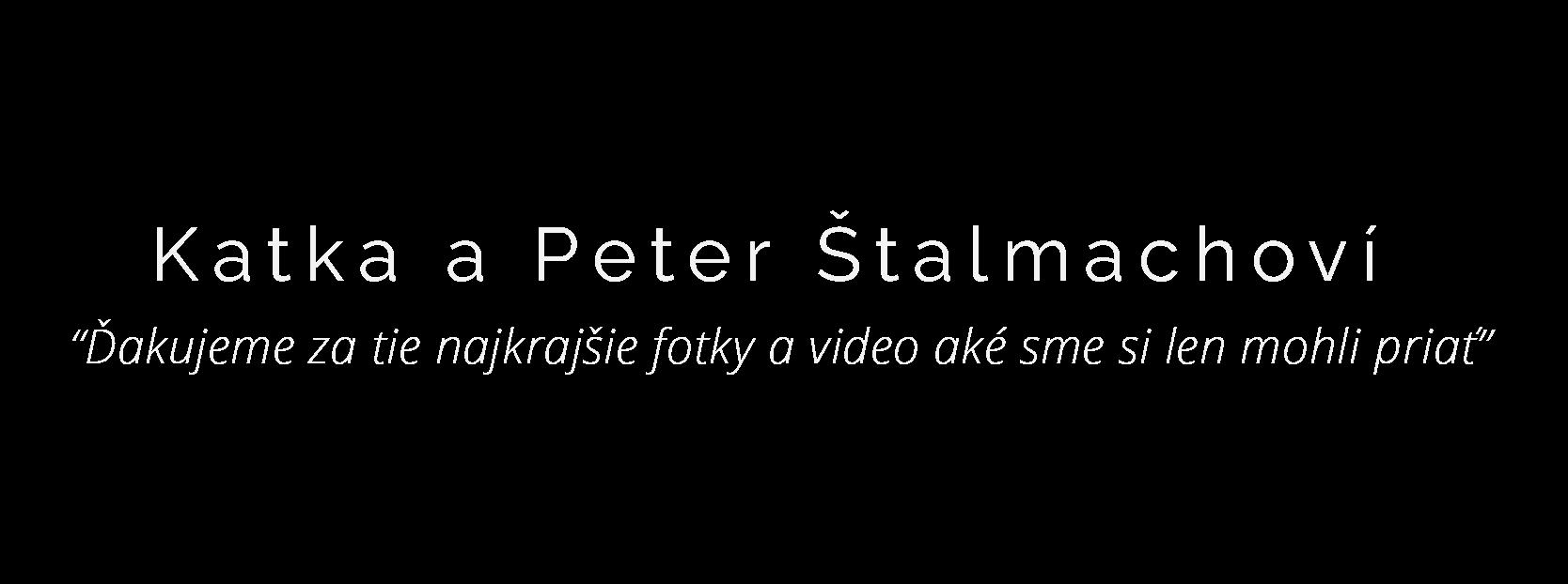 Recenzia na svadobné video od Katky Štalmachovej